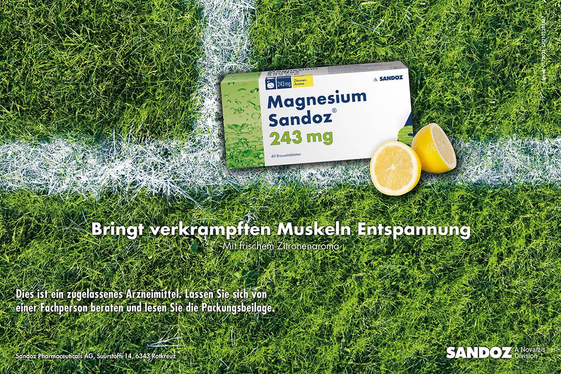 Magnesium Sandoz bringt verkrampften Muskeln Entspannung.